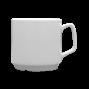 Porslin mugg vit 25 cl