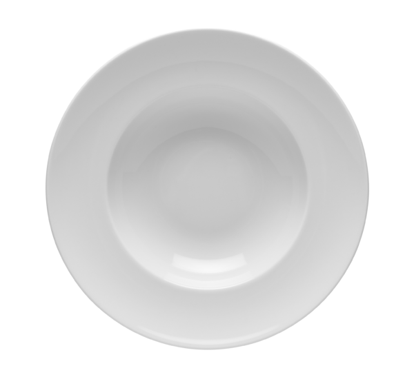 Tallrik djup rund vit