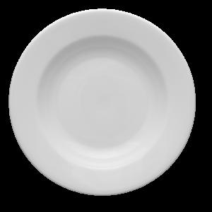 Tallrik djup rund vit 24cm