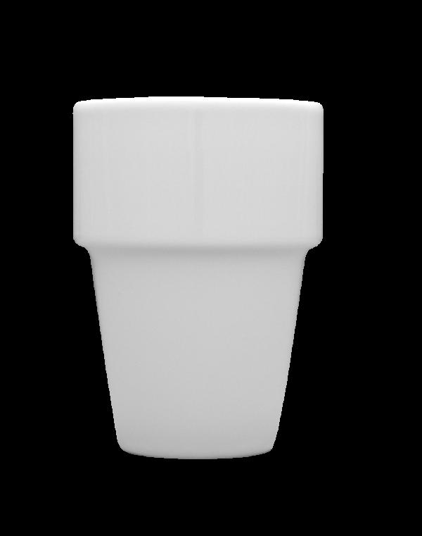 Porslin mugg vit 20 cl utan öra