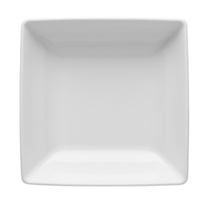 Tallrik djup kvadratisk vit 18x18cm