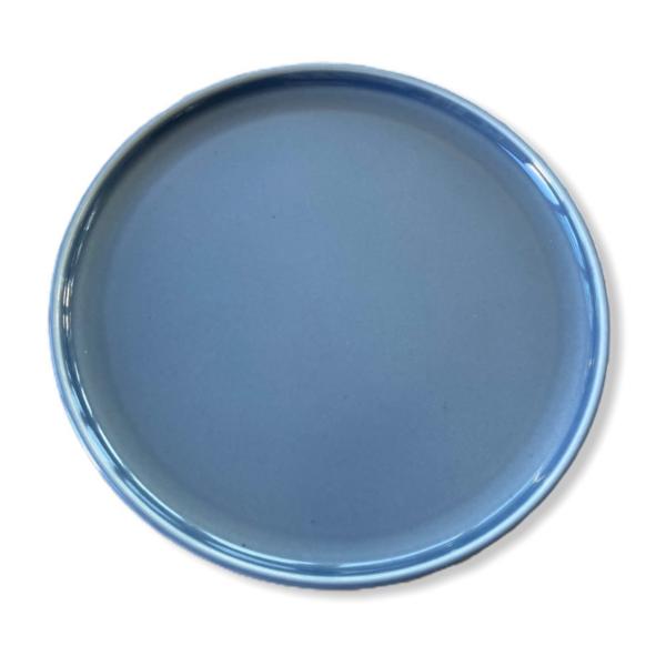 Tallrik rund gråblå 17,5cm
