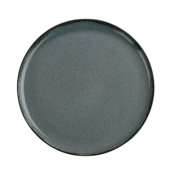 Tallrik flat 24cm gråblå